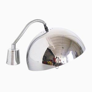 Lámpara de techo española de metal cromado, años 70