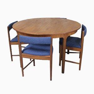 Set mit Esstisch & Stühlen aus Teak von Tom Robertson für McIntosh, 1960er