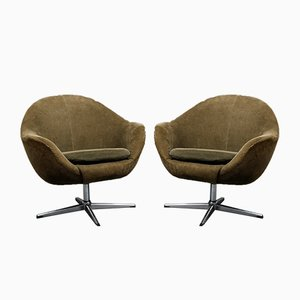 Vintage Swivel Armchairs, 1960s, Set of 2
