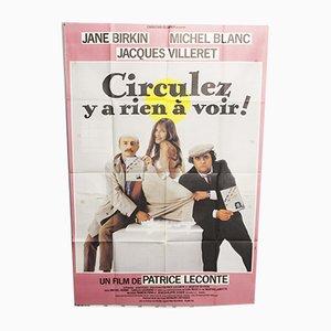 Póster francés vintage de la película, años 80