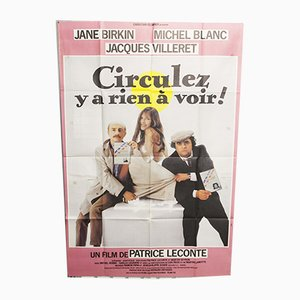 Vintage French Film Poster, 1980s