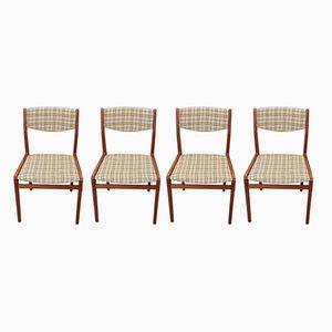 Vintage Esszimmerstühle von Knud Andersen, 1960er, 4er Set
