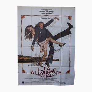 Póster de película francés vintage, años 70