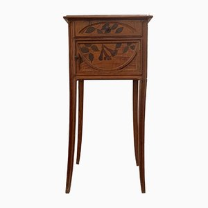Antique Art Nouveau Bedside Cabinet by Auguste Metge