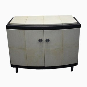 Wenge & Parchment Cabinet, 1970s