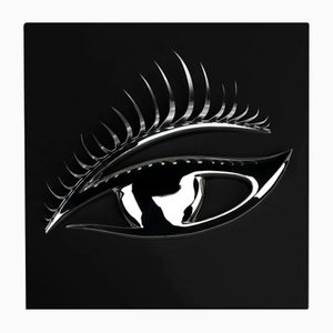 Black and Silver Wall Panel with Eye from VGnewtrend