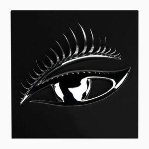 Wandtafel in Schwarz & Silber mit Auge von VGnewtrend