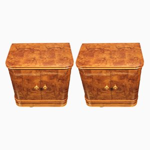 Art Deco Nighstands, 1930s, Set of 2