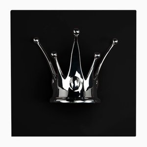 Black and Silver Wall Panel with Crown from VGnewtrend