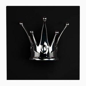 Panel mural en negro y plateado con corona de VGnewtrend