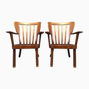 Vintage Stühle von Sören Hansen für Fritz Hansen, 1940er, 2er Set