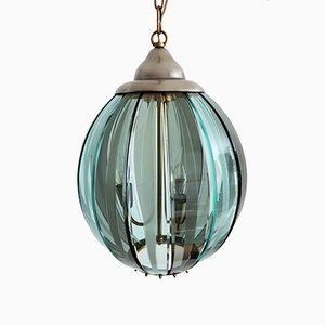 Lámpara de techo modelo 04 de latón y cristal de Murano de Zeroquattro, años 70