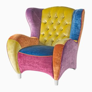 Rubelli Fabric Ibiza Swivel Armchair from Vgnewtrend