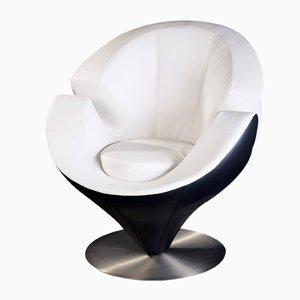 Schwarz-weißer Calla Sessel aus Eco-Leder von Vgnewtrend