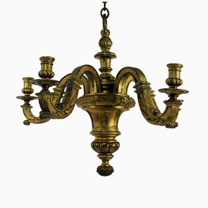 English Gilt Bronze Chandelier, 1830s