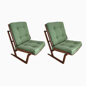 Mahogany Armchairs by Grete Jalk, 1950s, Set of 2