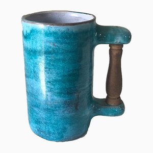 Ceramic Mug with Wood Handle from Cloutier, 1960s