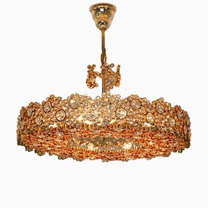 Large Crystal Chandelier by Ernst Palme for Palwa, 1960s