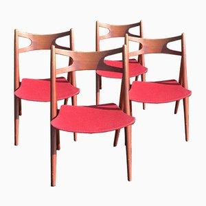 Model CH29 Teak Dining Chairs by Hans J. Wegner for Carl Hansen & Søn, 1950s, Set of 4