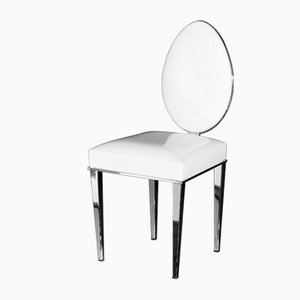 Glossy White Eco-Leather New Vovo Chair from VGnewtrend