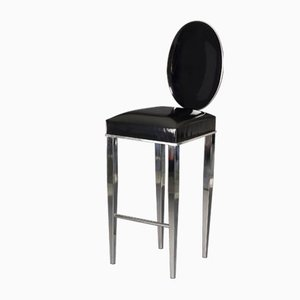 Glossy Black Eco-Leather New Vovo Stool from VGnewtrend