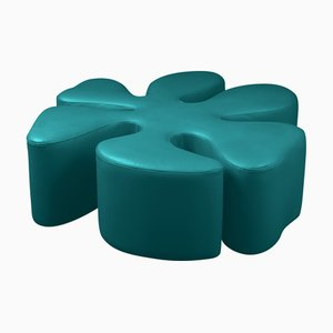 Green Leather Margaret Pouf from VGnewtrend