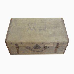 Antiker Koffer mit Leinenbezug