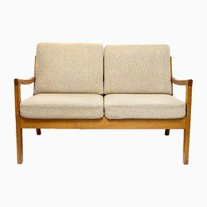 Senator 2-Sitzer Sofa mit Gestell aus Teak von Ole Wanscher für Peter Jeppesen, 1960er