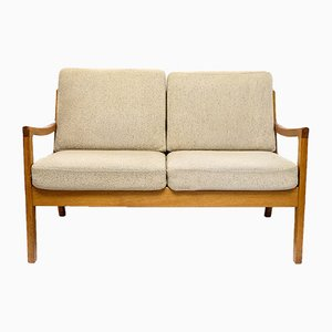 Senator Two-Seater Teak Sofa by Ole Wanscher for Peter Jeppesen, 1960s