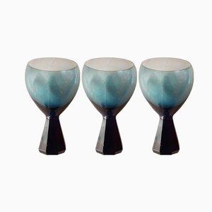Diabolo Weingläser von Friedrich Glas, 1960er, 3er Set