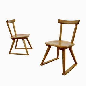 Swiss High Chairs, 1940s, Set of 2