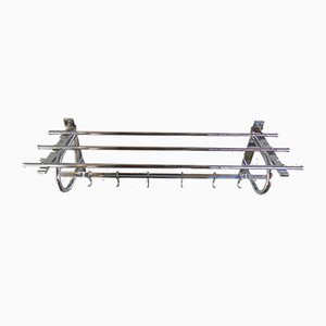 Art Deco Wall Coat Rack with Six Hooks, 1930s