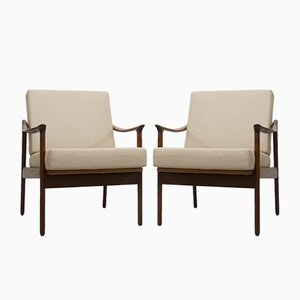 Model 563 Teak Armchairs by Fredrik A. Kayser for Vatne Lenestolfabrikk, 1950s, Set of 2