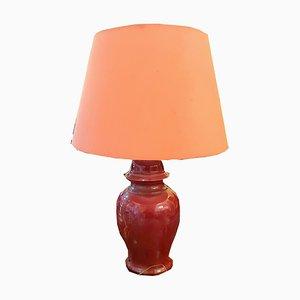 Lámpara de mesa con jarrón chino, años 50