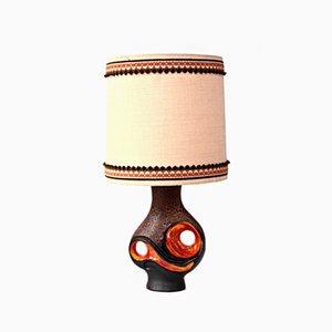 Vintage German Ceramic Table Lamp, 1970s