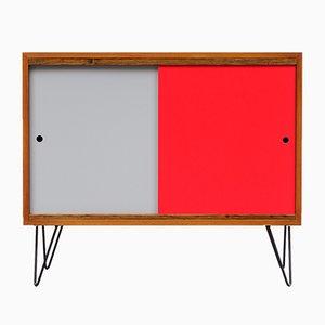 Kleines Sideboard aus Nussholzfurnier, 1960er