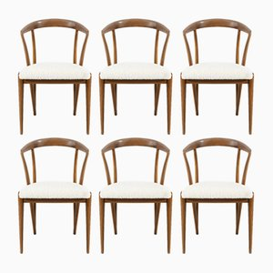 Mid-Century Dining Chairs by Bertha Schaefer for Singer and Sons, 1950s, Set of 6