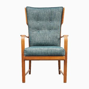 Mid-Century Walnut Armchair, 1950s