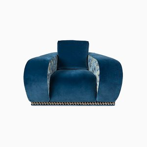 Blue Velvet Napoli Eticaliving Armchair by Slow+Fashion+Design for VGnewtrend