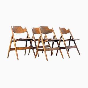 Chaises Pliantes Mid-Century en Contreplaqué par Egon Eiermann, 1950s, Set de 4