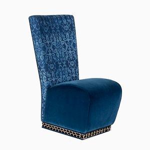 Chaise Eitziving Genova en Velours Bleu par Slow+Fashion+Design pour VGnewtrend