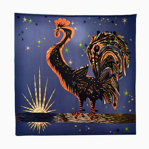 Handwoven Le Reveille Matin Tapestry by Marc Saint-Saens for Rene Baudonnet, 1950s