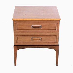 Vintage Teak 2-Drawer Side Table or Nightstand, 1970s