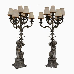 Vintage Italian Candelabras from Fonderia d'arte Vicenza, Set of 2