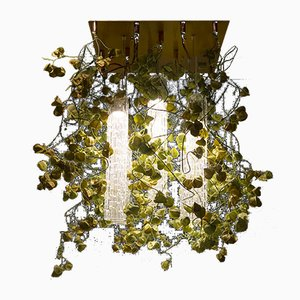 Flower Power Ceiling Lamp with Murano Glass and Physalis Flowers from Vgnewtrend