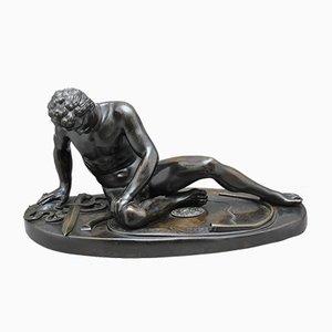 Figura del Gálata moribundo de bronce, siglo XIX