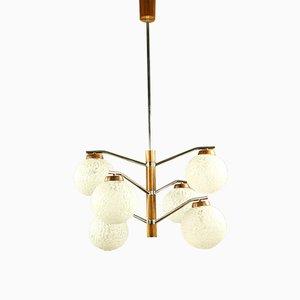 Lámpara de techo vintage de Temde, años 60