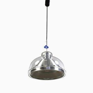 Vintage Pendelleuchte aus Aluminium & Glas von Doria Leuchten