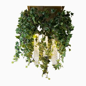 Flower Power Chandelier with Murano Glass and Artificial Ivy from VGnewtrend