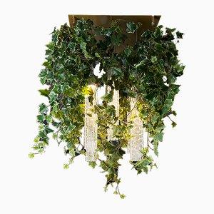 Lustre Flower Power en Verre de Murano avec Lierre Artificiel de VGnewtrend